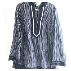 Kenar blue and white top.  Size XL